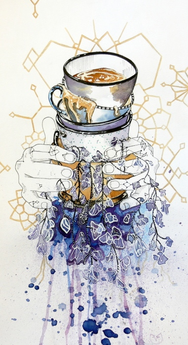"""""""Care For One?"""" 12'x5"""" Tea and Pen """