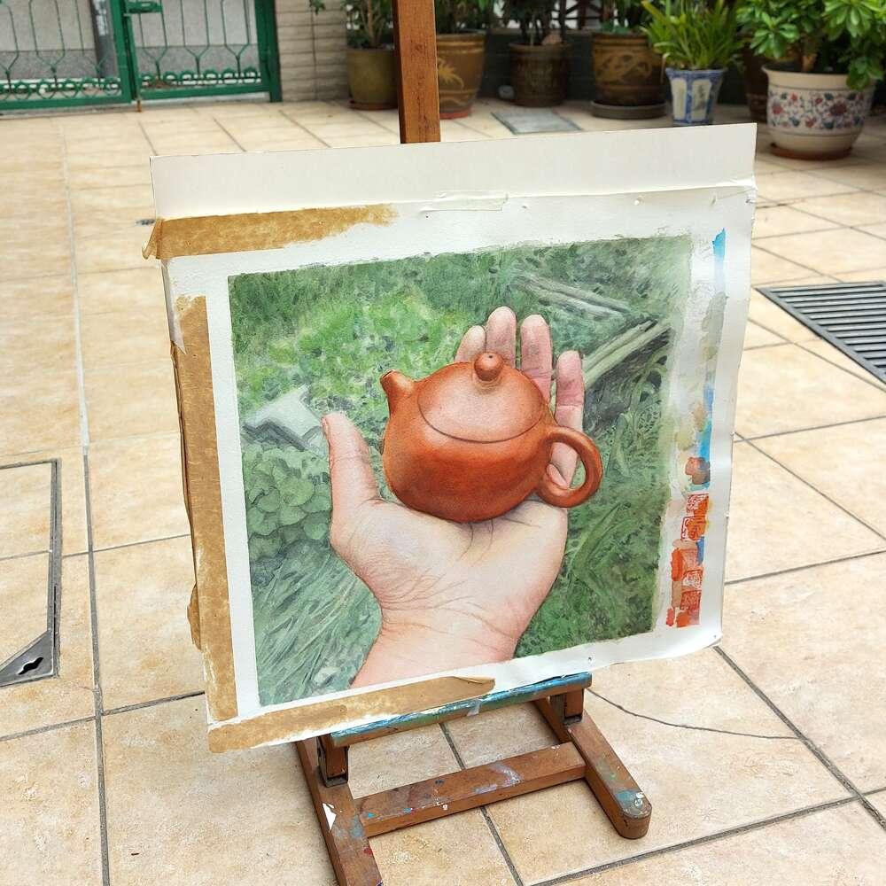 hand teapot